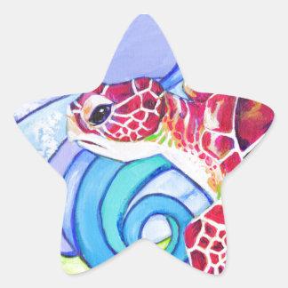 Adesivo Estrela Tartaruga de Surfin