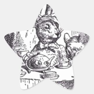 Adesivo Estrela Tea party louco do Hatter