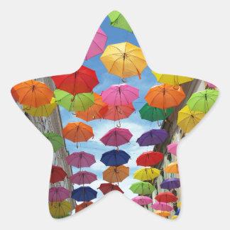 Adesivo Estrela Telhado dos guarda-chuvas