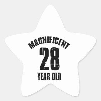 Adesivo Estrela TENDENDO o DESIGN do ANIVERSÁRIO das pessoas de 28