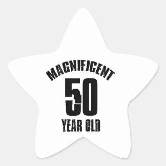 Adesivo Estrela TENDENDO o DESIGN do ANIVERSÁRIO das pessoas de 50