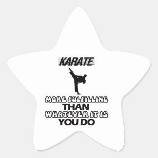 Adesivo Estrela Tendendo o DESIGN do karaté