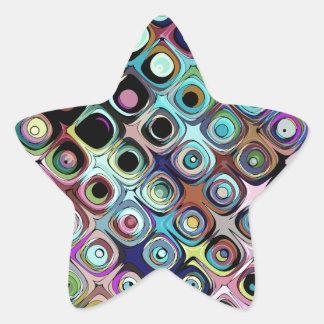 Adesivo Estrela Teste padrão abstrato colorido