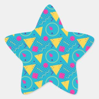 Adesivo Estrela Teste padrão azul