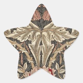 Adesivo Estrela Teste padrão do vintage da madressilva de William