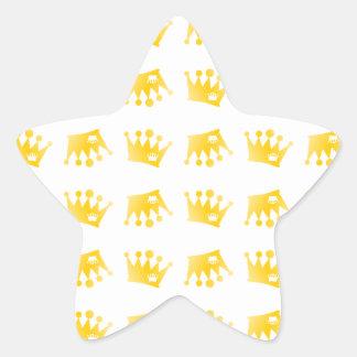 Adesivo Estrela Teste padrão dobro da coroa
