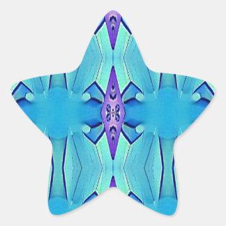 Adesivo Estrela Teste padrão feminino do Lilac azul Azure bonito