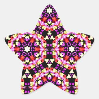 Adesivo Estrela Teste padrão floral minúsculo