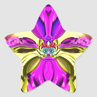 Adesivo Estrela Teste padrão florescente legal do abstrato do