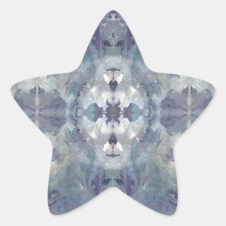 Adesivo Estrela Teste padrão frio do Lilac
