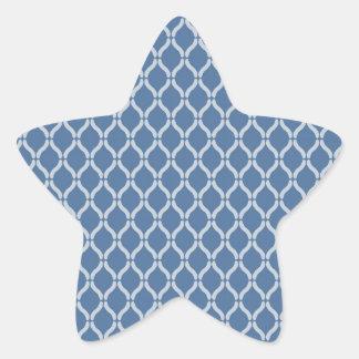 Adesivo Estrela Teste padrão geométrico azul