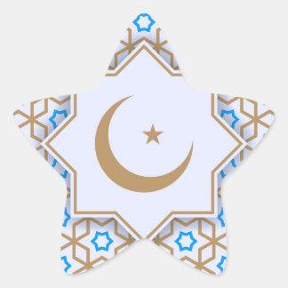 Adesivo Estrela teste padrão geométrico islâmico