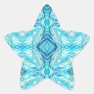 Adesivo Estrela Teste padrão moderno de turquesa Funky