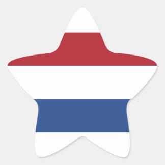 Adesivo Estrela Teste padrão patriótico holandês de Holland