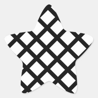 Adesivo Estrela Teste padrão simples preto e branco