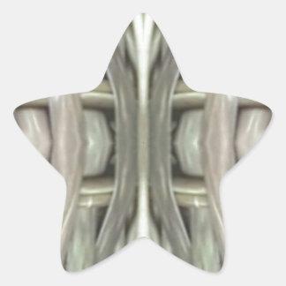 Adesivo Estrela Teste padrão tonificado cinzas do Weave de Nuetral