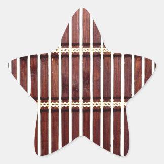 Adesivo Estrela textura de bambu da esteira