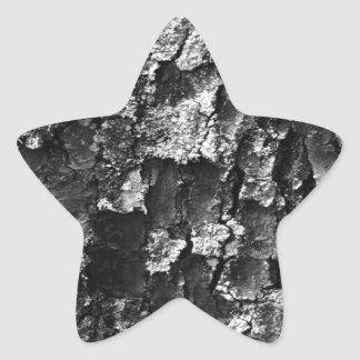 Adesivo Estrela Textura de madeira