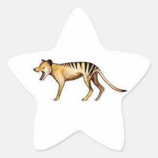Adesivo Estrela Tigre tasmaniano, Thylacine