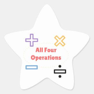 Adesivo Estrela Todas as quatro operações