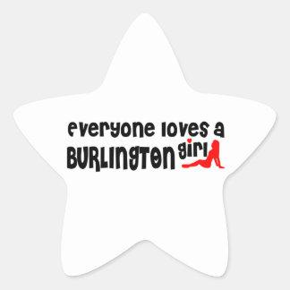 Adesivo Estrela Todos ama uma menina de Burlington
