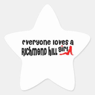 Adesivo Estrela Todos ama uma menina de Richmond