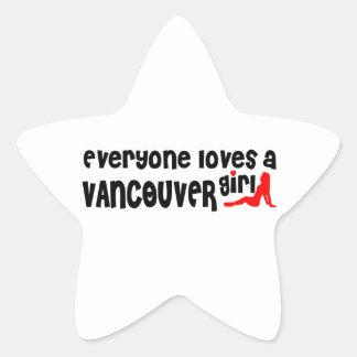 Adesivo Estrela Todos ama uma menina de Vancôver