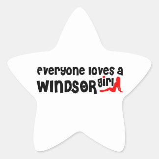 Adesivo Estrela Todos ama uma menina de Windsor