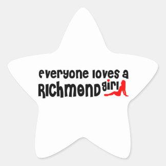 Adesivo Estrela Todos ama uma menina do monte de Richmond