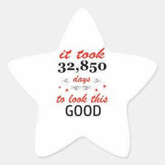 Adesivo Estrela Tomou 90 anos para olhar este bom
