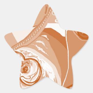 Adesivo Estrela Tons do Sepia do pitbull