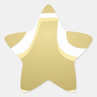 Adesivo Estrela torta feliz do dia do pi