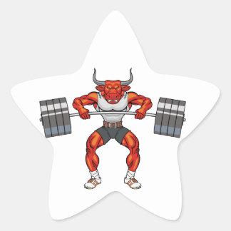 Adesivo Estrela touro 2 do levantamento de peso