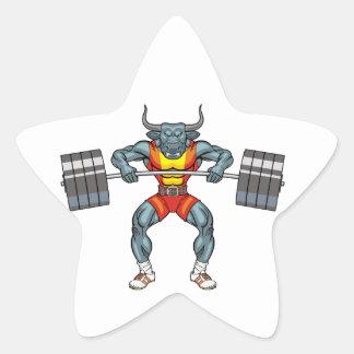 Adesivo Estrela touro 3 do levantamento de peso