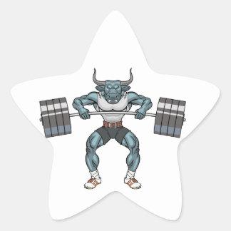Adesivo Estrela touro do levantamento de peso