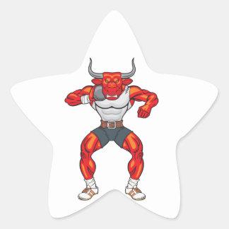 Adesivo Estrela touro psto tiro 2