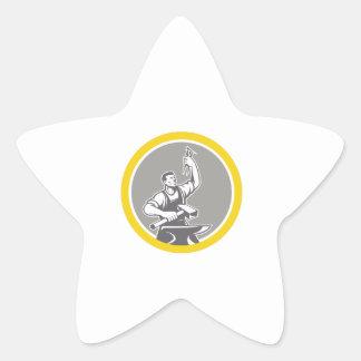 Adesivo Estrela Trabalhador do ferreiro que guardara o círculo