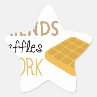 Adesivo Estrela Trabalho dos Waffles dos amigos