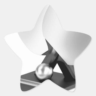 Adesivo Estrela Troféu de prata do ténis de mesa