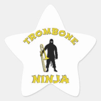 Adesivo Estrela Trombone Ninja