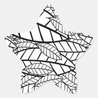 Adesivo Estrela tropical grande