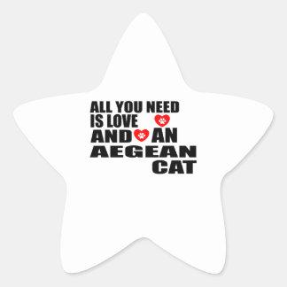ADESIVO ESTRELA TUDO QUE VOCÊ PRECISA É DESIGN EGEU DO CAT DO AMOR