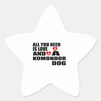 Adesivo Estrela Tudo você precisa o design dos cães do amor