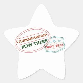 Adesivo Estrela Turkmenistan feito lá isso