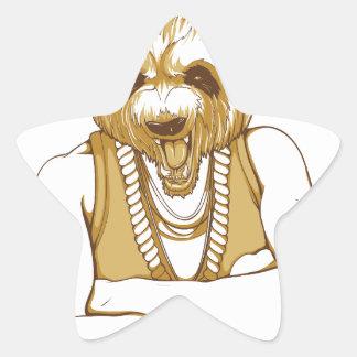 Adesivo Estrela urso humano com língua