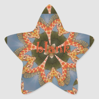 Adesivo Estrela Vazio colorido africano surpreendente bonito do