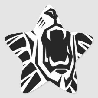 Adesivo Estrela vecto principal do leão