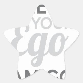 Adesivo Estrela Verifique seu amigo do ego