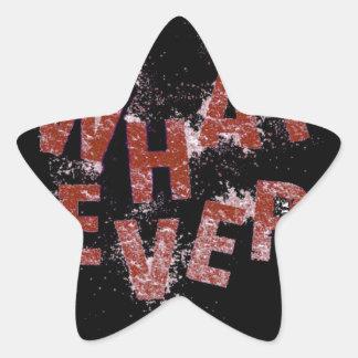 Adesivo Estrela Vermelho o que quer que