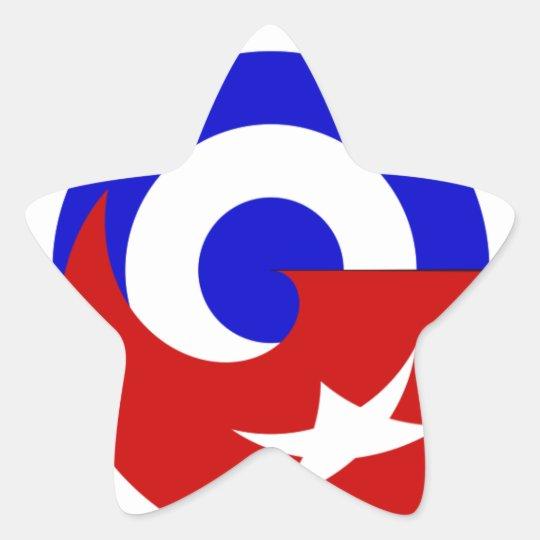Adesivo Estrela Versões da bandeira de Cuba